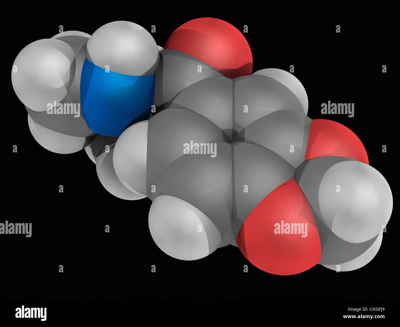 Methylone molecola di farmaco Immagini Stock