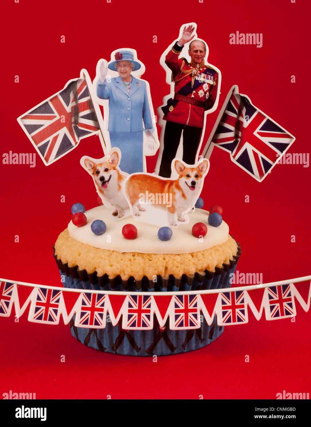 ROYAL BRITISH CELEBRAZIONE CUPCAKE Foto Stock