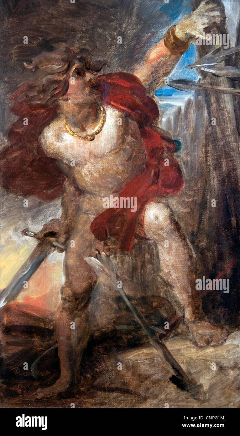 Le coraggio gaulois - Coraggio il gallico 1830 dal Barone Francois Gerard 1770-1837 Francia - Francese Immagini Stock