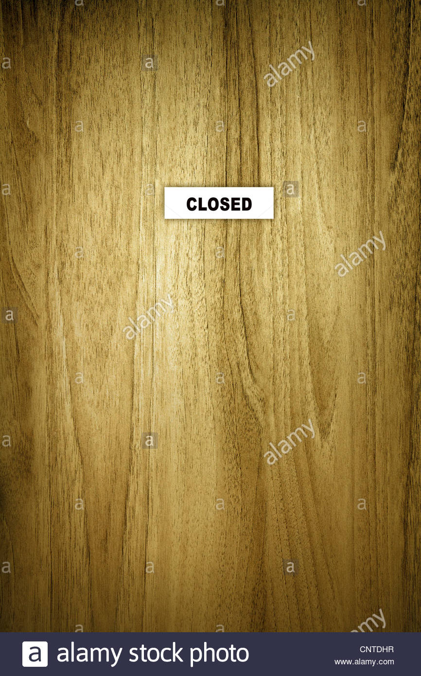 Segno di chiusura della porta Immagini Stock