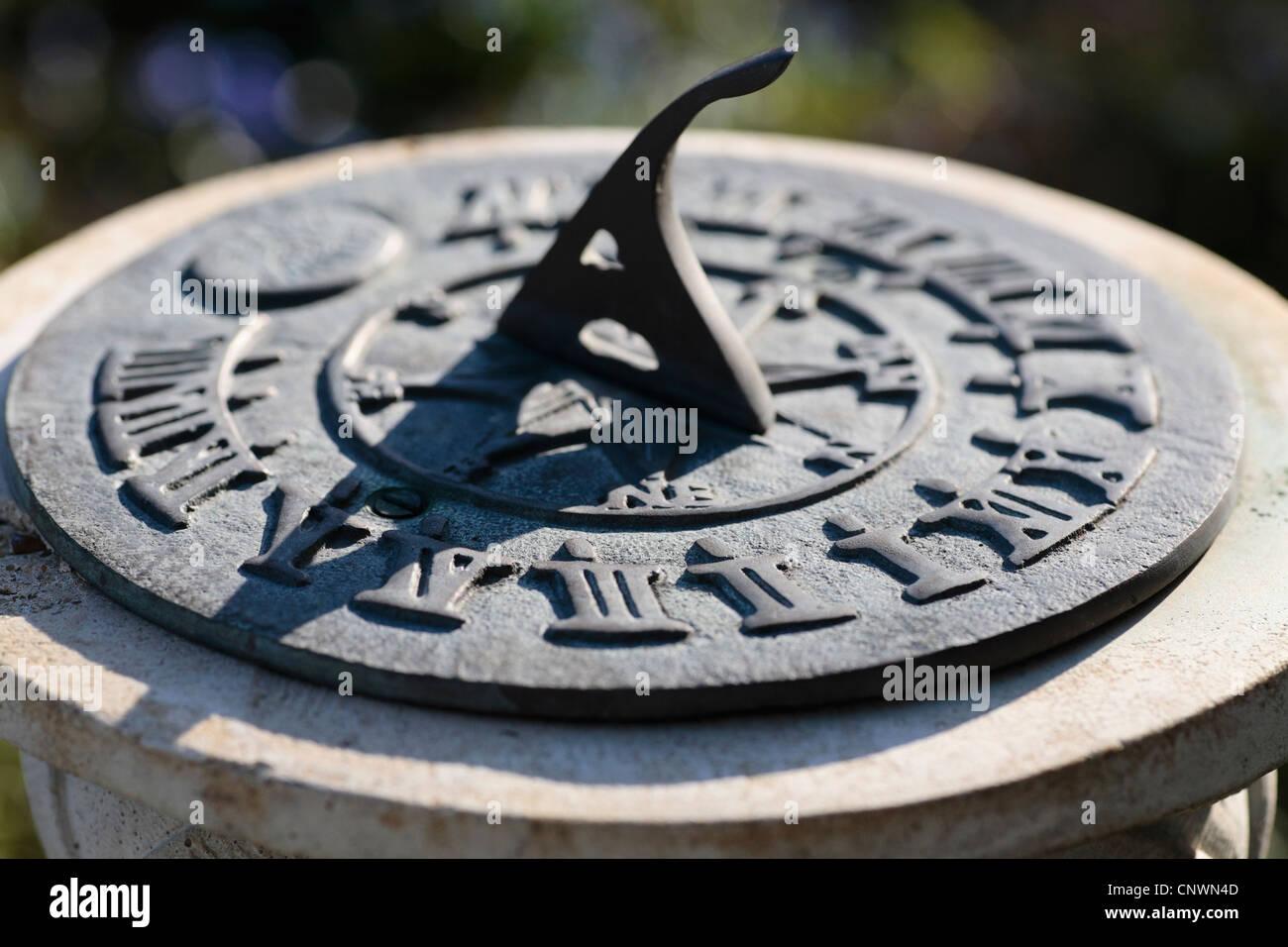 Un orologio solare close up Immagini Stock
