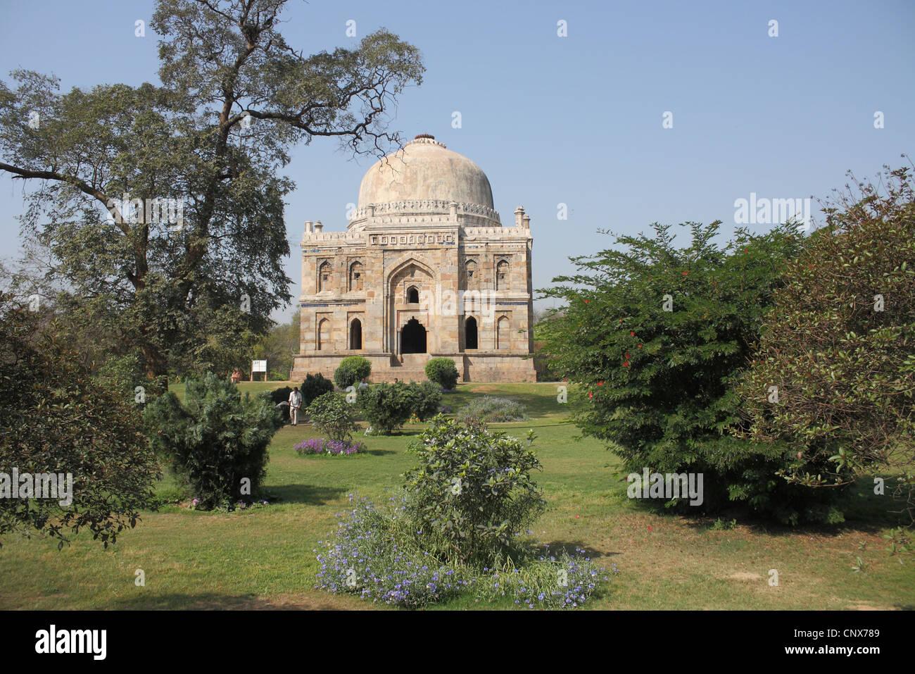 Antico monumento a Lodi gardens New Delhi India Immagini Stock