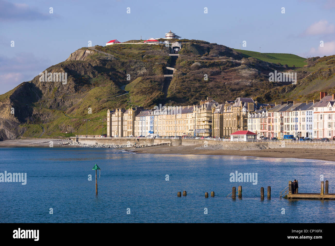 Constitution Hill, Aberystwyth Beach e waterfront Foto Stock