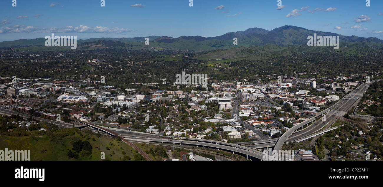 Fotografia aerea Walnut Creek, Contra Costa County, California Immagini Stock