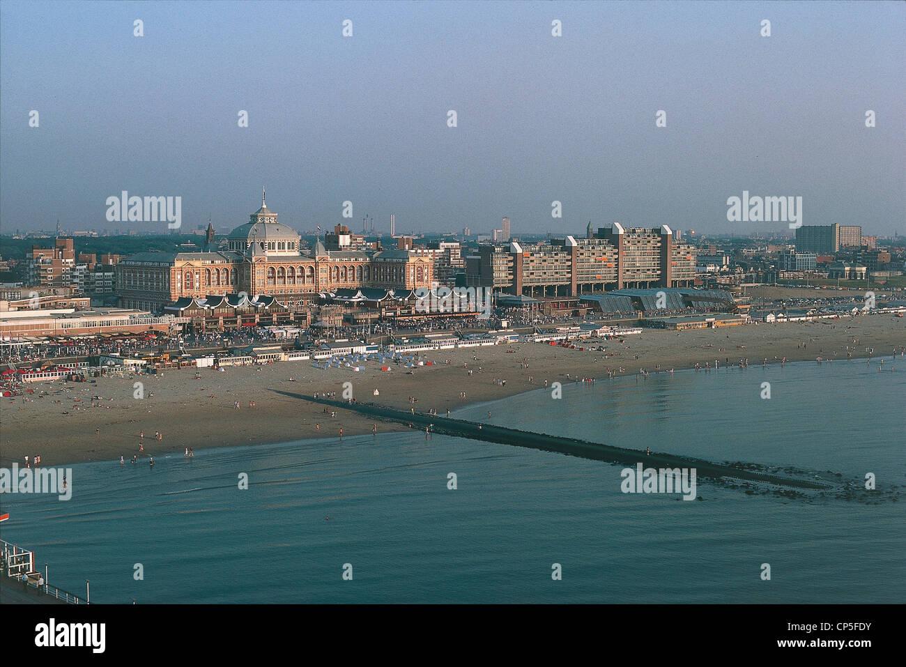 "Paesi Bassi - ""L'Aia (Den Haag). Spiaggia di Scheveningen, Kurhaus Hotel in stile Liberty. Immagini Stock"