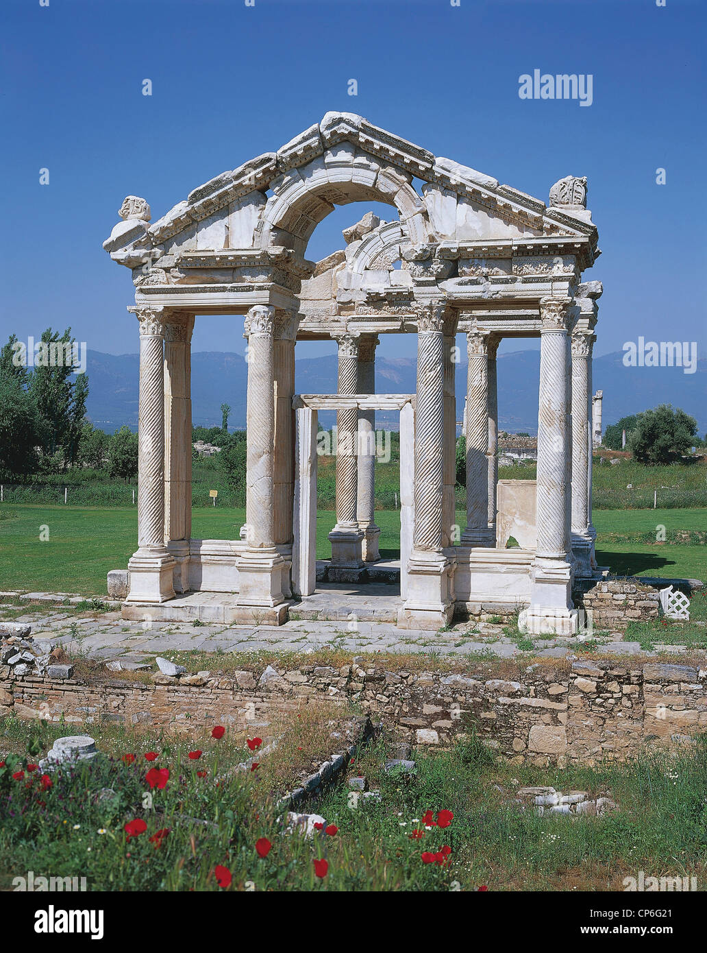 Turchia - Aphrodisias - Il Tetrapylon, II secolo D.C. Immagini Stock