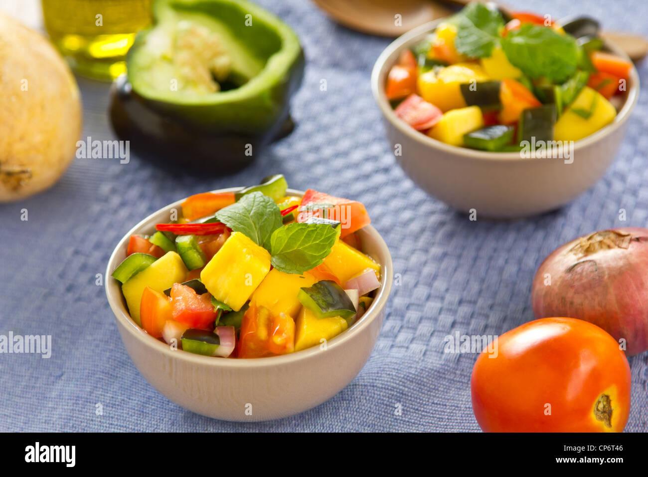 Salsa di mango Foto Stock
