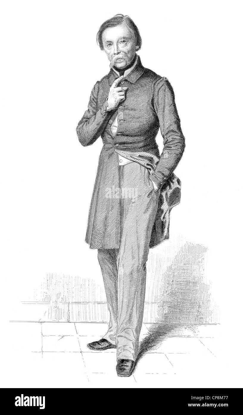 Pierre-Jean Davide o David d'Angers, 1788 - 1856, membro dell'Assemblea nazionale francese, Francia, 1848, Immagini Stock