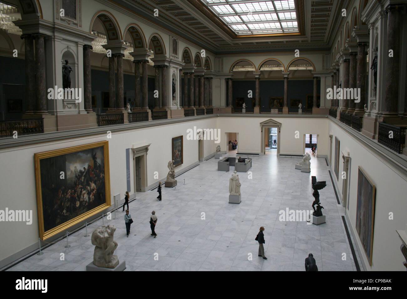 La sala principale del Museo Reale di Belle Arti del Belgio, Bruxelles Immagini Stock