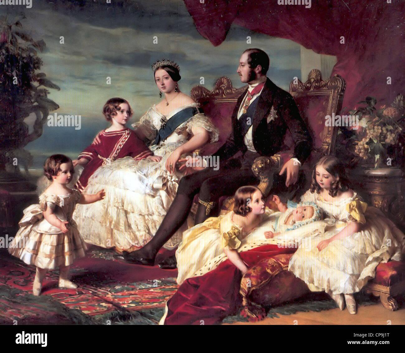 Famiglia di Queen Victoria Immagini Stock