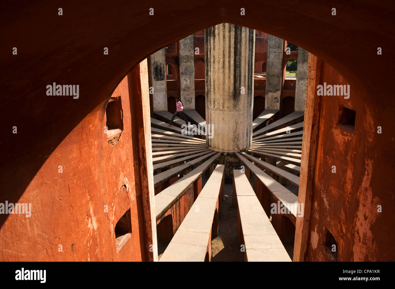 Jantar Mantar, copiati da Jaipur osservatorio originale, Delhi, India Immagini Stock