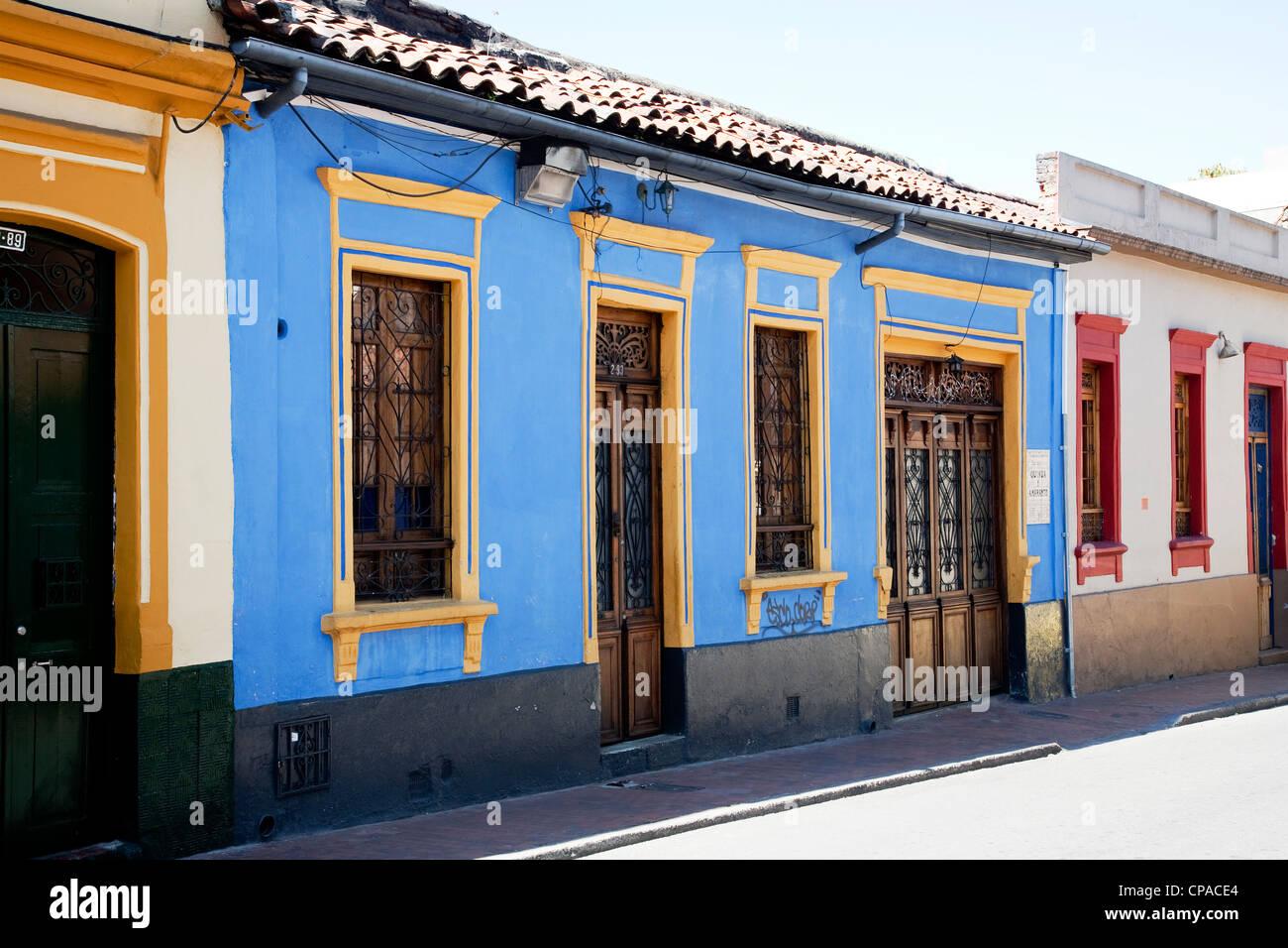Bogotà vecchio quartiere. Foto Stock
