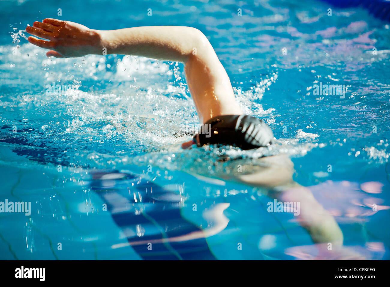 Un atleta - nuotatore Immagini Stock