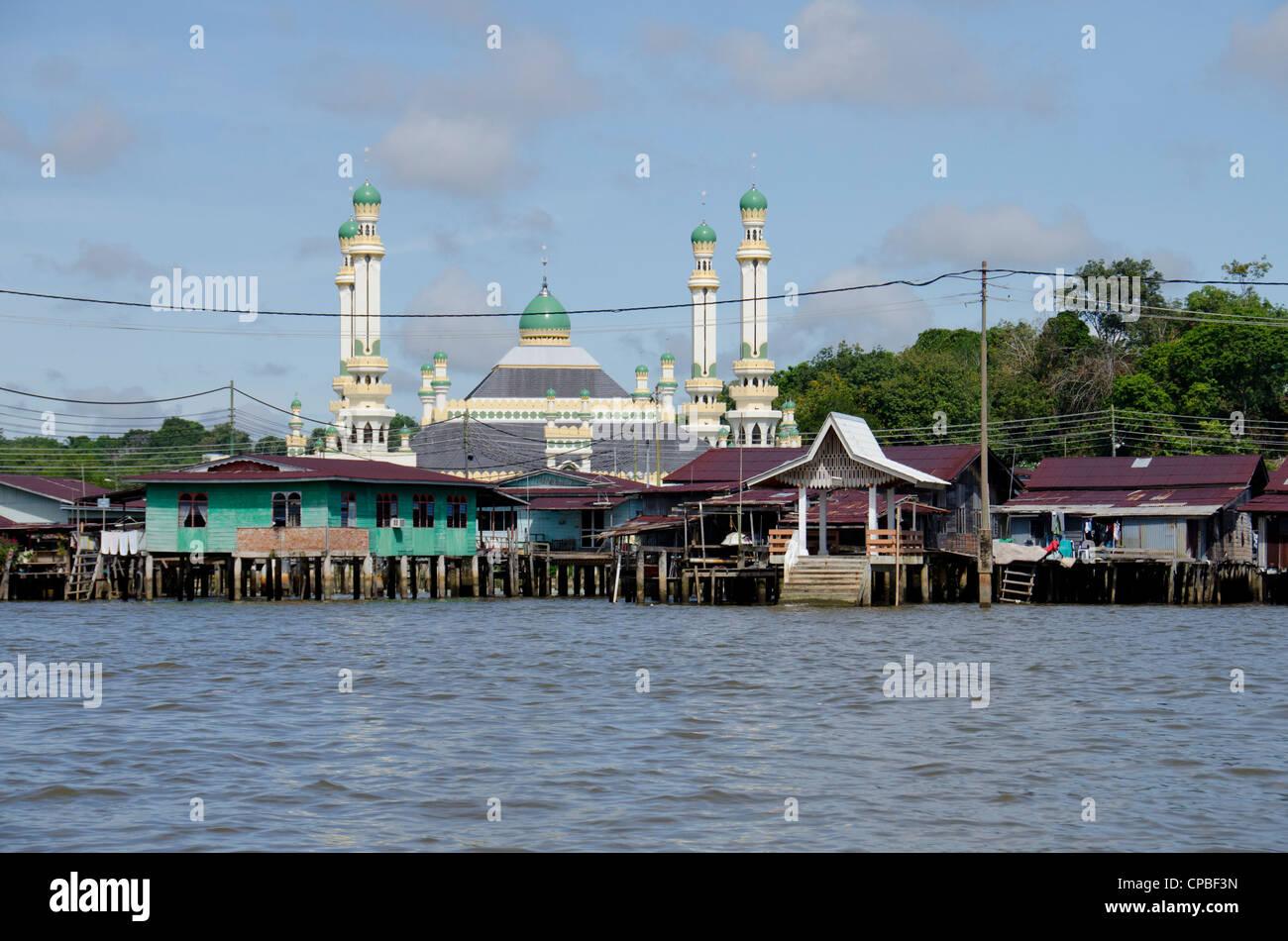 Asia, borneo Brunei Darussalam bandar seri begawan. storico villaggio di acqua. Immagini Stock