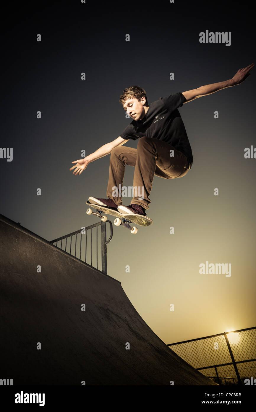 Skateboarder Immagini Stock