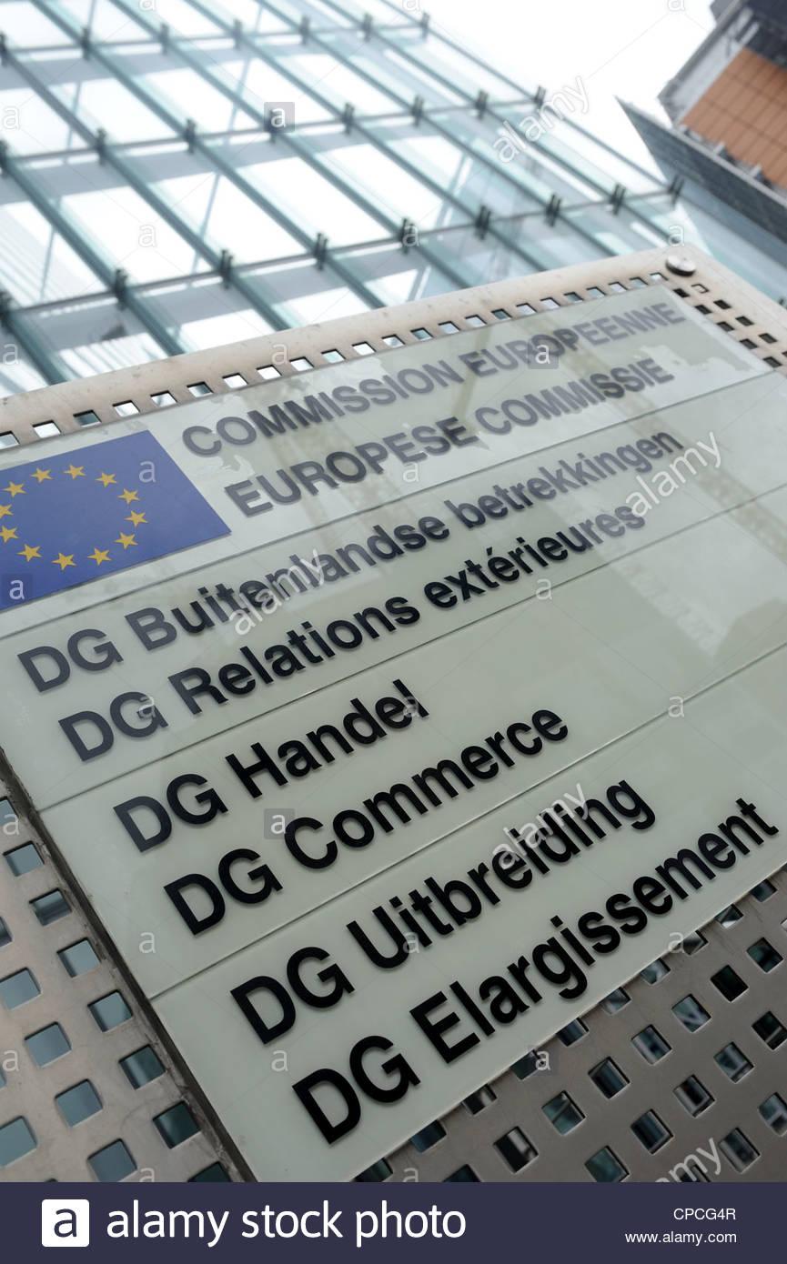 Bruxelles, Belgio Unione Europea Direzione generale delle Relazioni Esterne, commercio e allargamento Immagini Stock