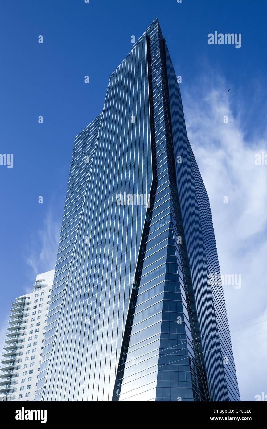 Grattacielo al quartiere Brickell, Miami, Florida, Stati Uniti d'America Immagini Stock