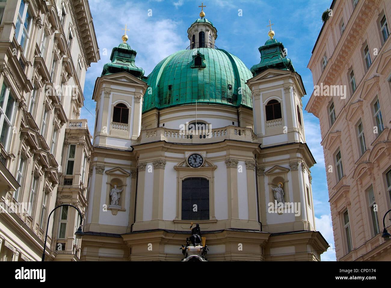 Chiesa di San Pietro, Vienna, Austria, Europa Immagini Stock