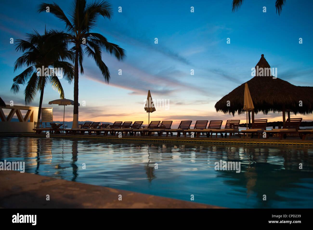 Villa Premiere Hotel and Spa, Puerto Vallarta, Jalisco, Messico, America del Nord Immagini Stock