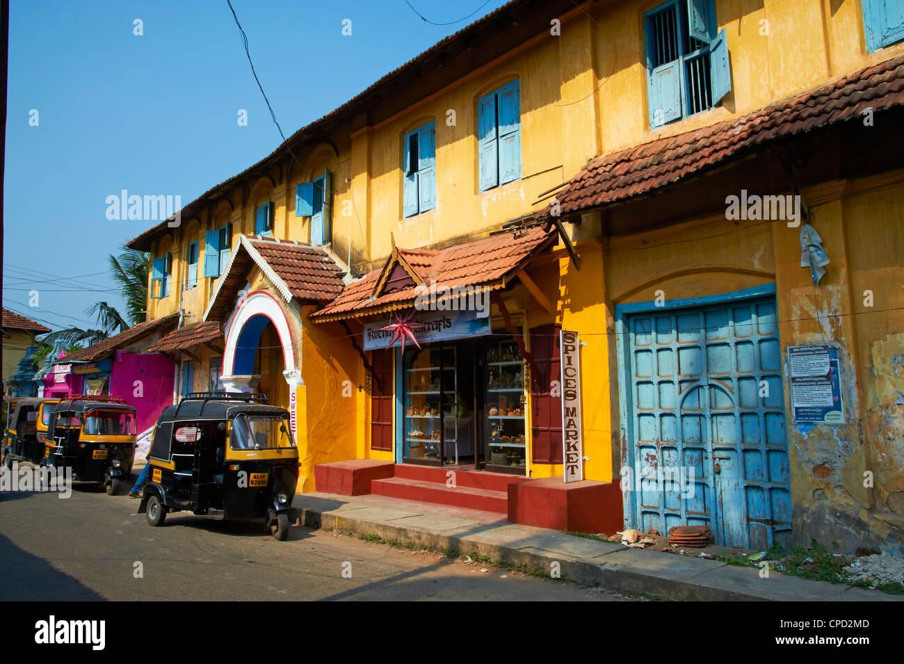Area di spezie, Fort Cochin (Kochi), Kerala, India, Asia Immagini Stock