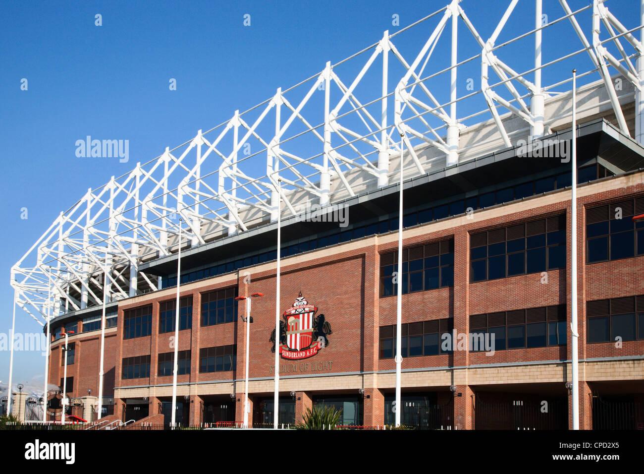 Stadio della luce, Sunderland, Tyne and Wear, England, Regno Unito, Europa Immagini Stock
