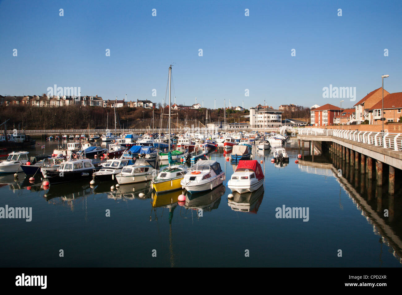 Sunderland Marina, Sunderland, Tyne and Wear, England, Regno Unito, Europa Immagini Stock