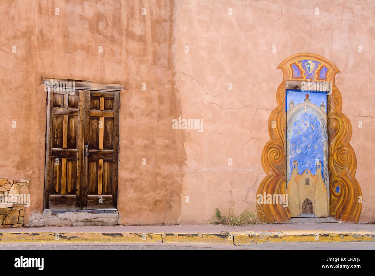 Porte in Santa Fe, New Mexico, Stati Uniti d'America, America del Nord Immagini Stock