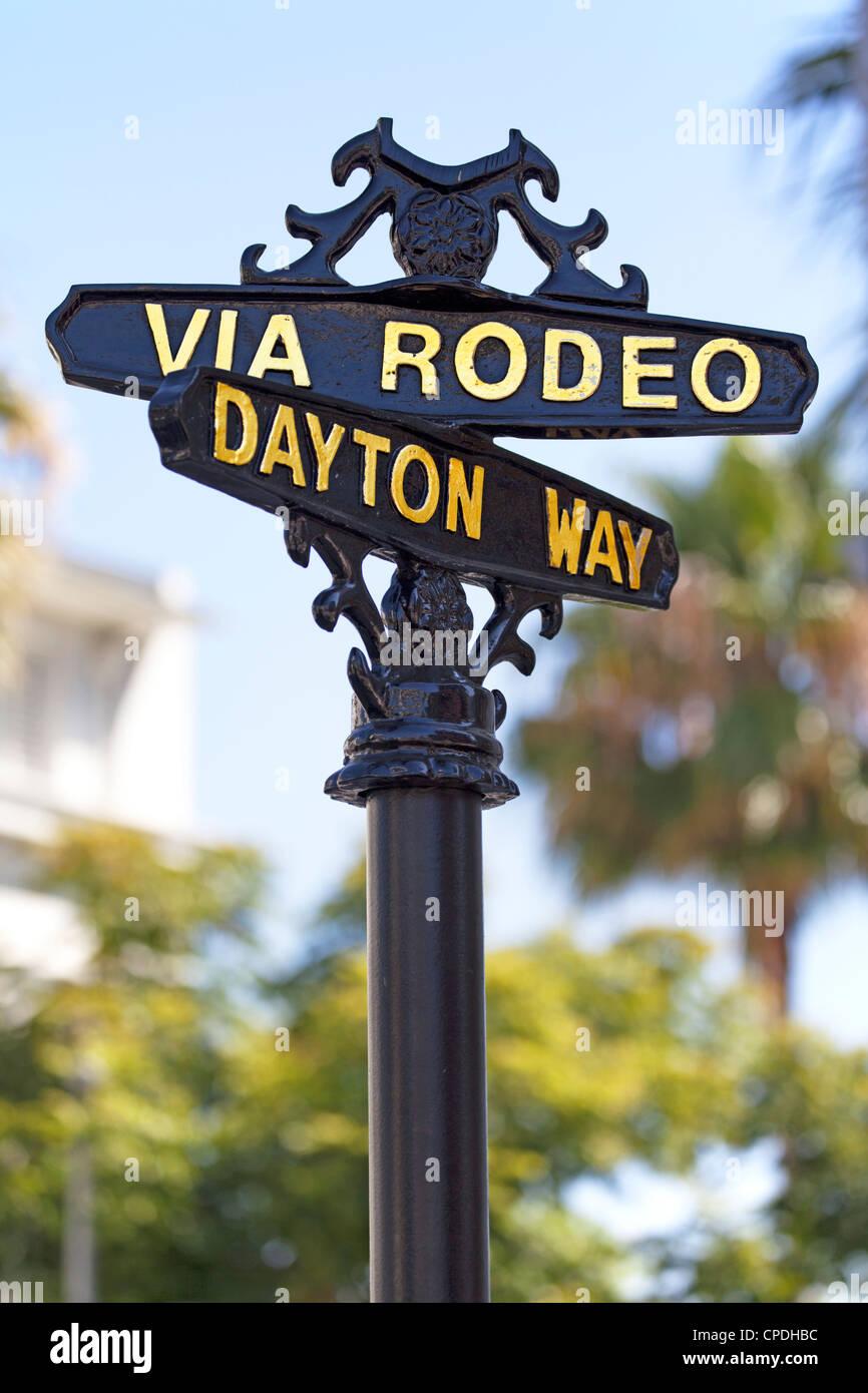 Rodeo Drive, Beverly Hills, Los Angeles, California, Stati Uniti d'America, America del Nord Foto Stock
