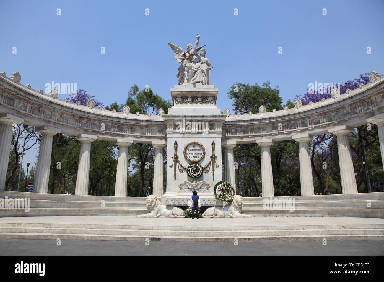 Un Hemiciclo Juarez (Benito Juarez monumento), Alameda, Città del Messico, Messico, America del Nord Immagini Stock