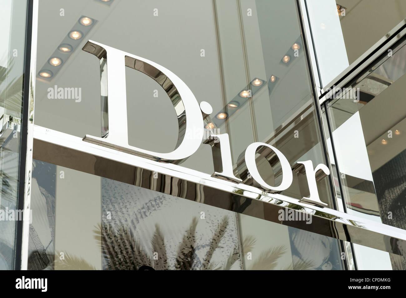 Dior segno - il lusso del marchio commerciale Immagini Stock