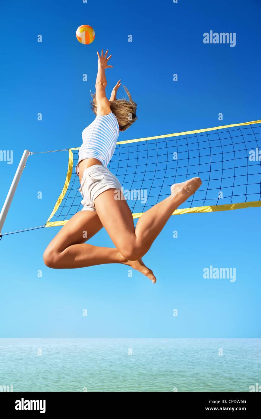Beach volley Immagini Stock