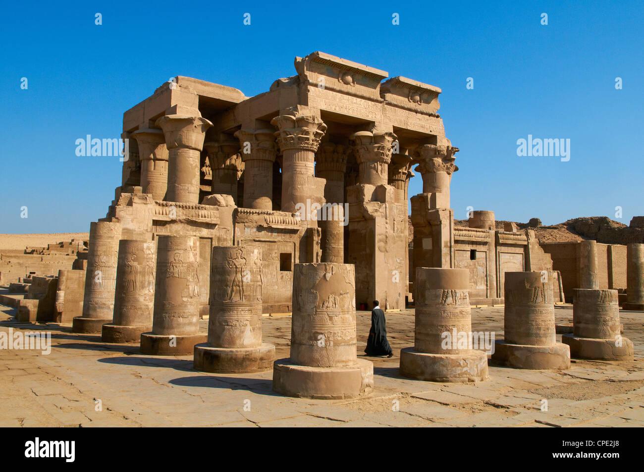 Tempio di Sobek e Haroeris, Kom Ombo, Egitto, Africa Settentrionale, Africa Immagini Stock