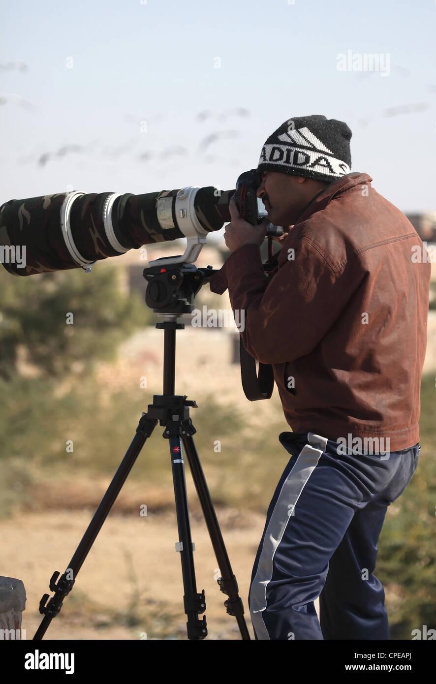 Professional Wildlife Photographer Immagini Stock