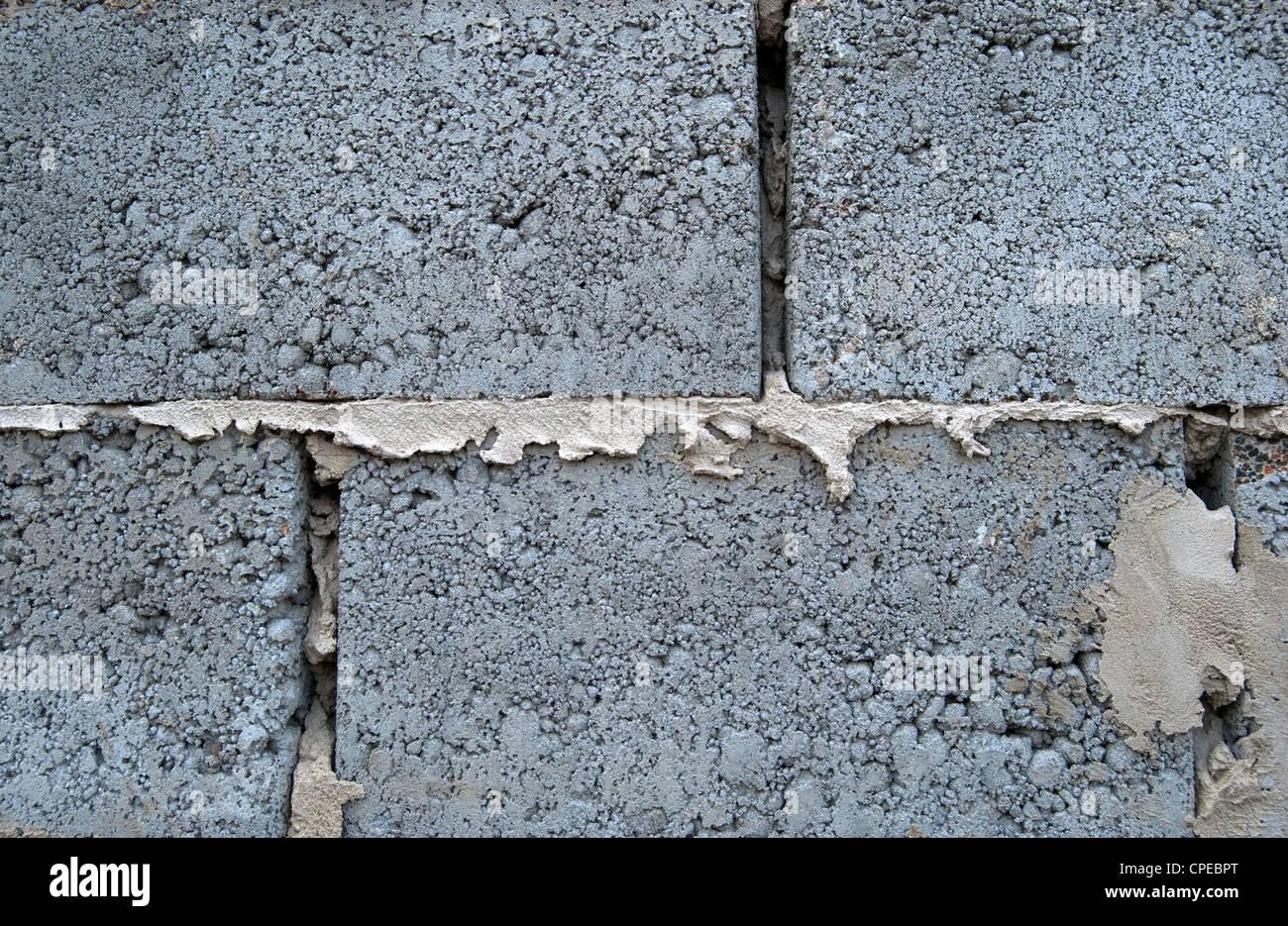 Vista della facciata del vecchio muro di mattoni per background di design Immagini Stock
