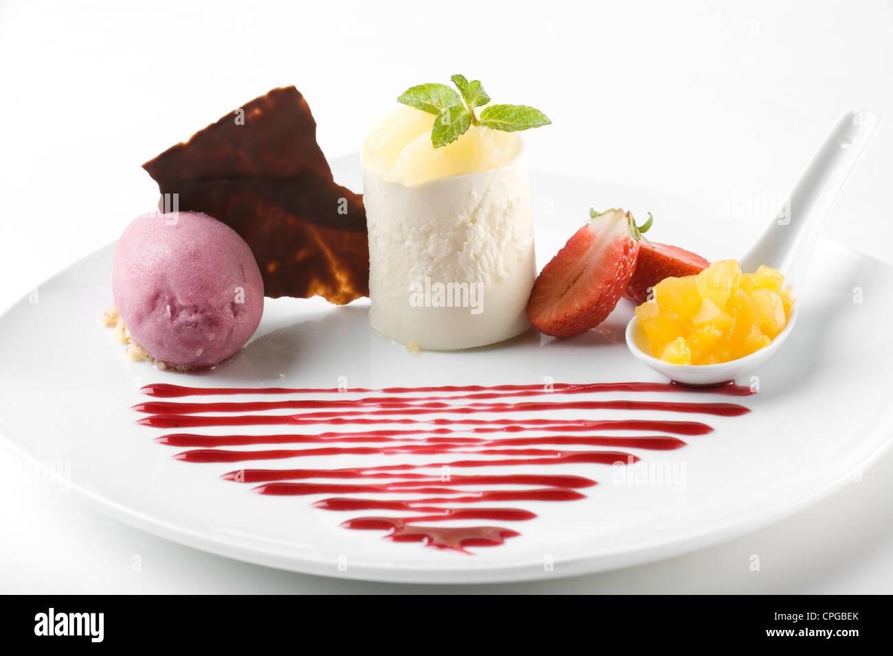 Elegante dessert gourmet Immagini Stock
