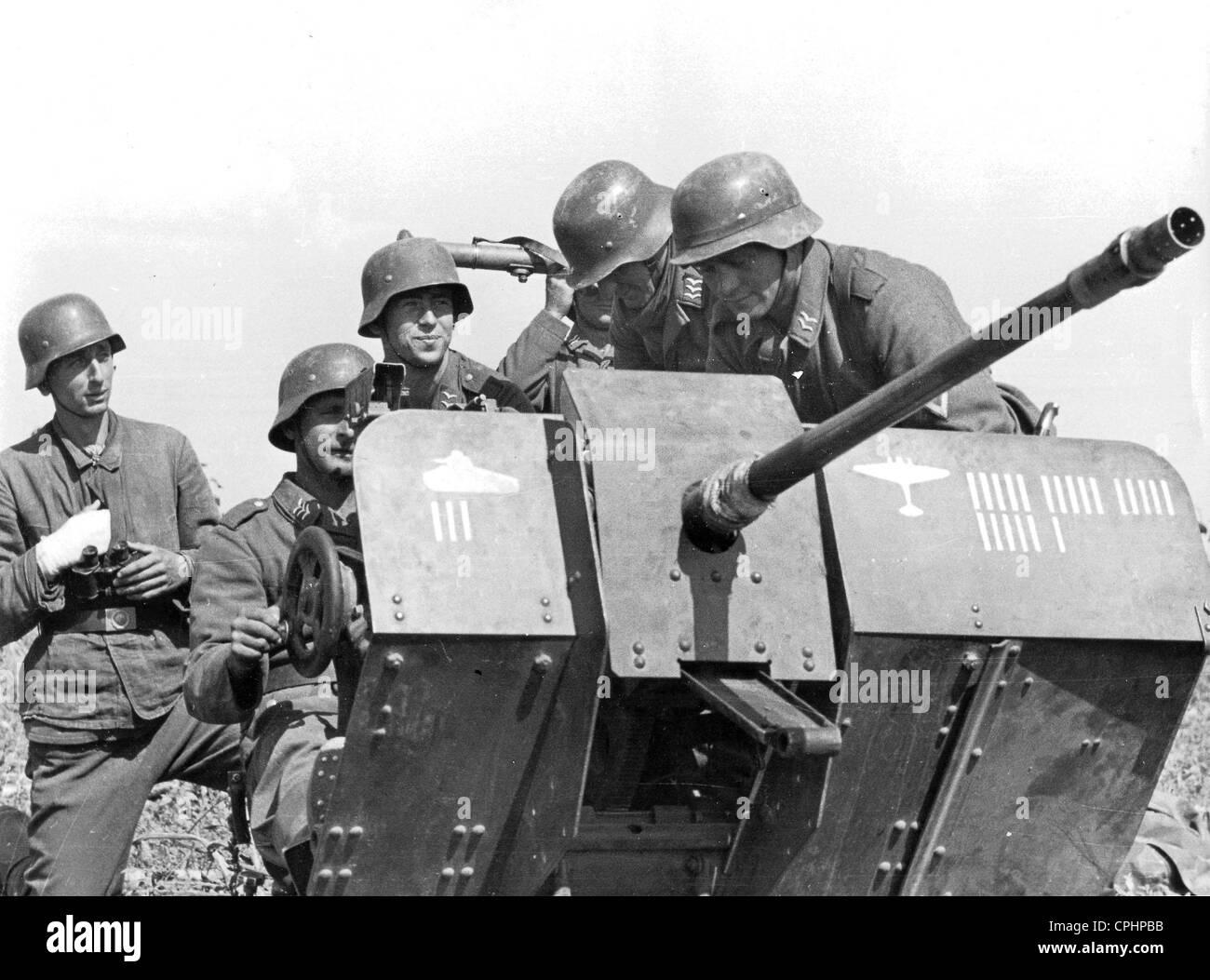 Tedesco 2 cm Flak 38 Immagini Stock
