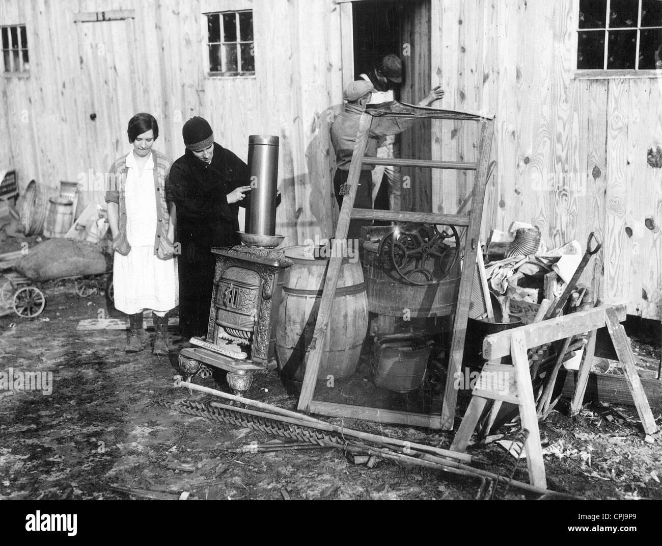 Sfratto durante la Grande Depressione, 1933 Immagini Stock