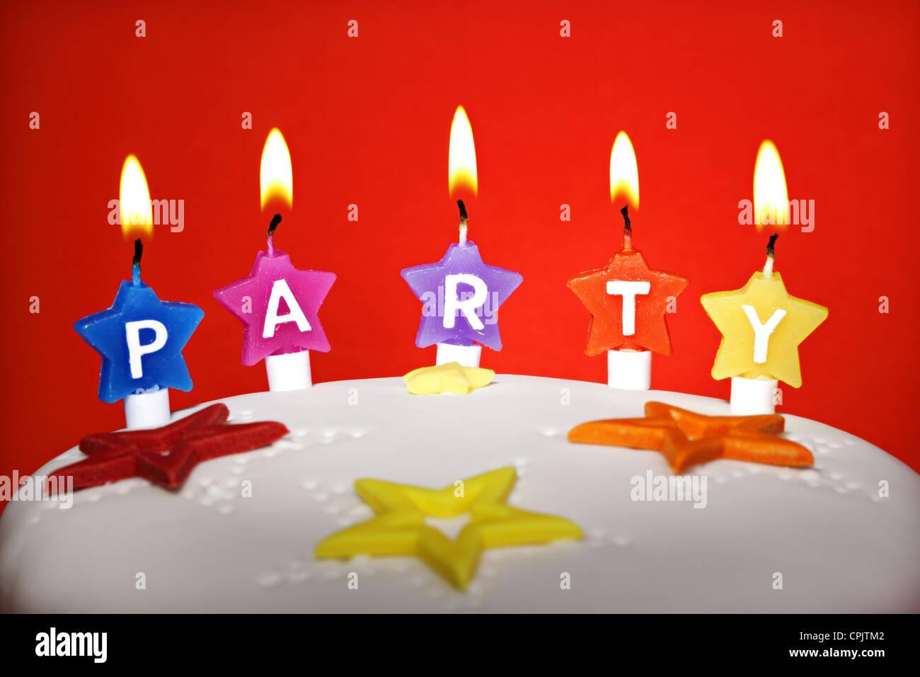 Festa di compleanno torta Immagini Stock