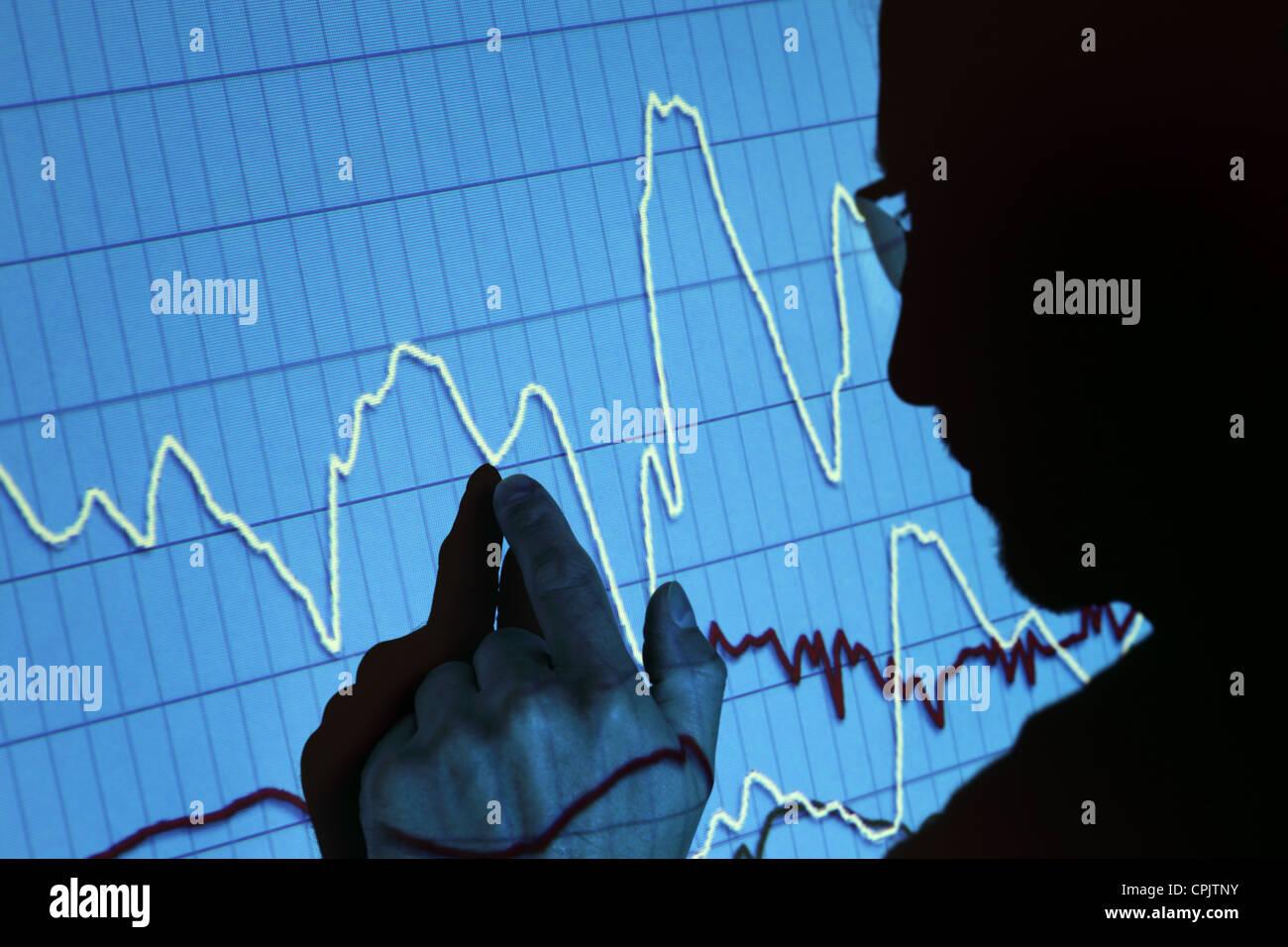 Presentazione delle finanze Immagini Stock