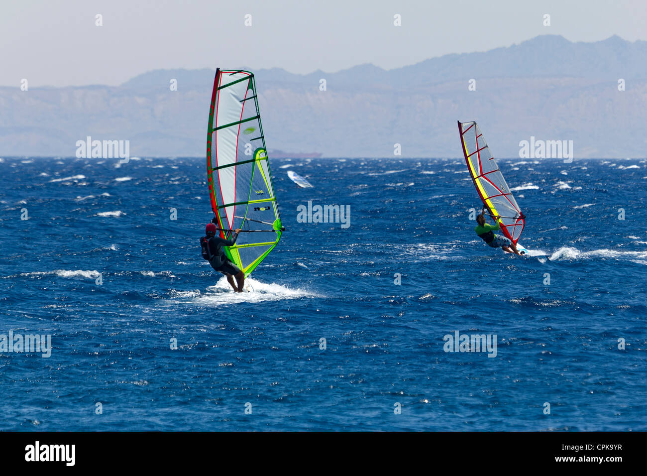 Wind Surf a Dahab, Sinai, Egitto Immagini Stock