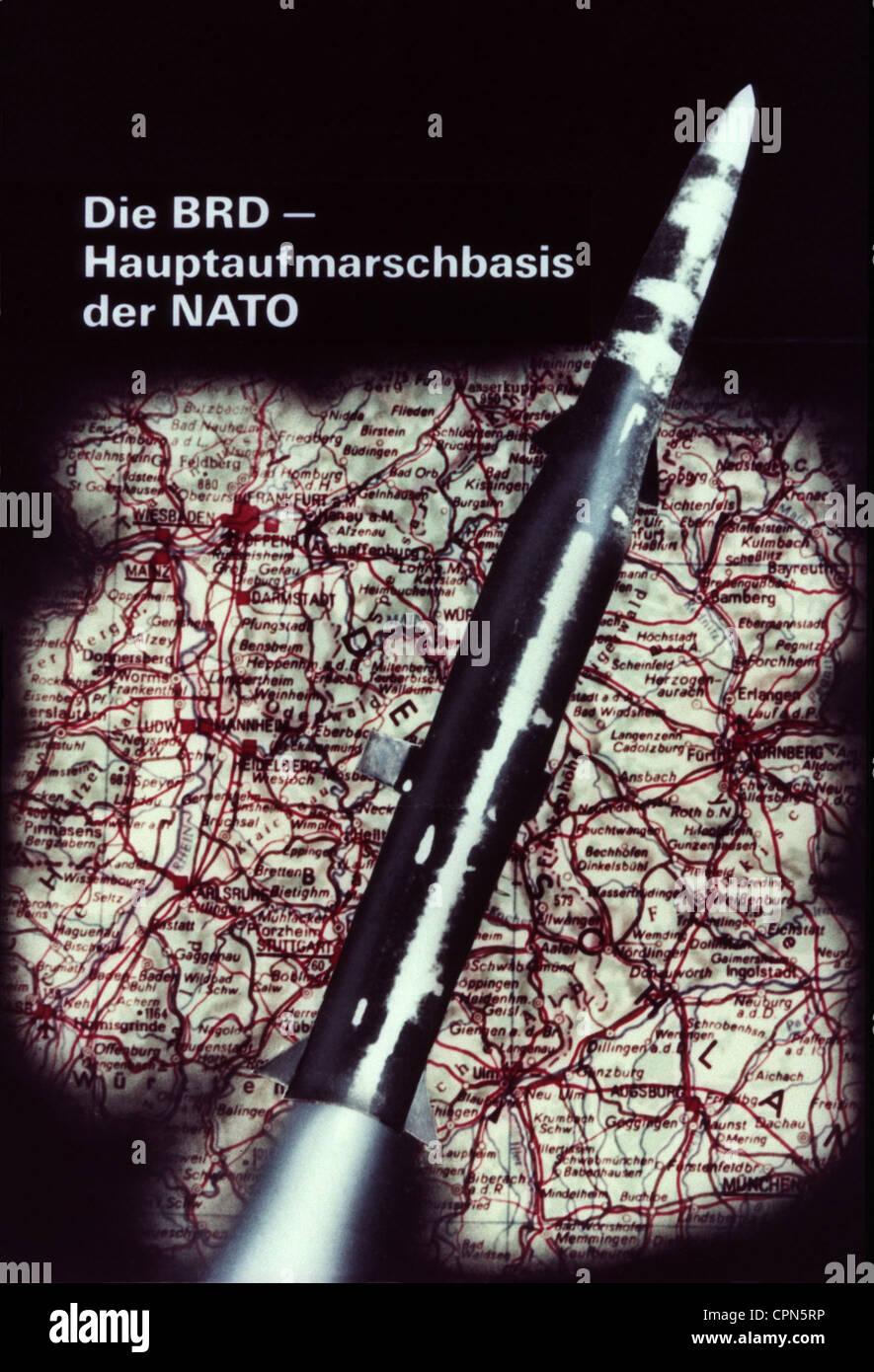 East-Germany, politica, propaganda contro l'Organizzazione del Trattato del Nord Atlantico (NATO), 'Die Immagini Stock