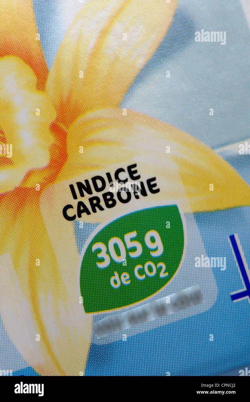 Cibo impronta di carbonio Immagini Stock