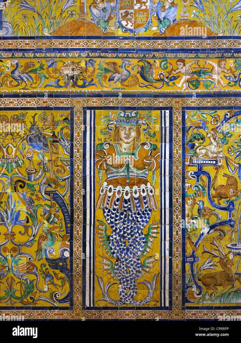 Sala Gotica, Royal Alcazars di Siviglia Andalusia Spagna Immagini Stock