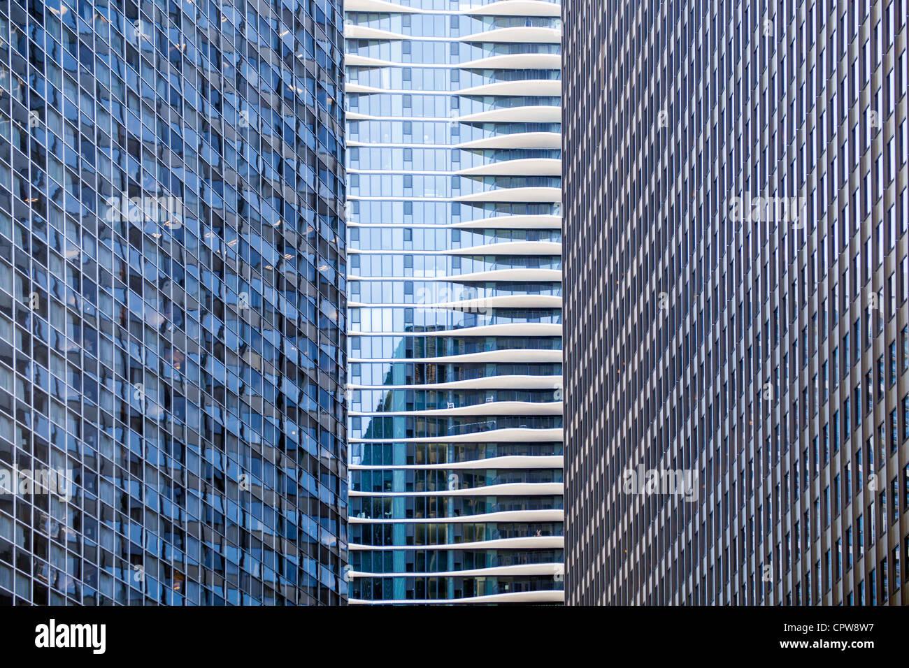 Ufficio città di - costruzione di edifici nel centro di Chicago Immagini Stock