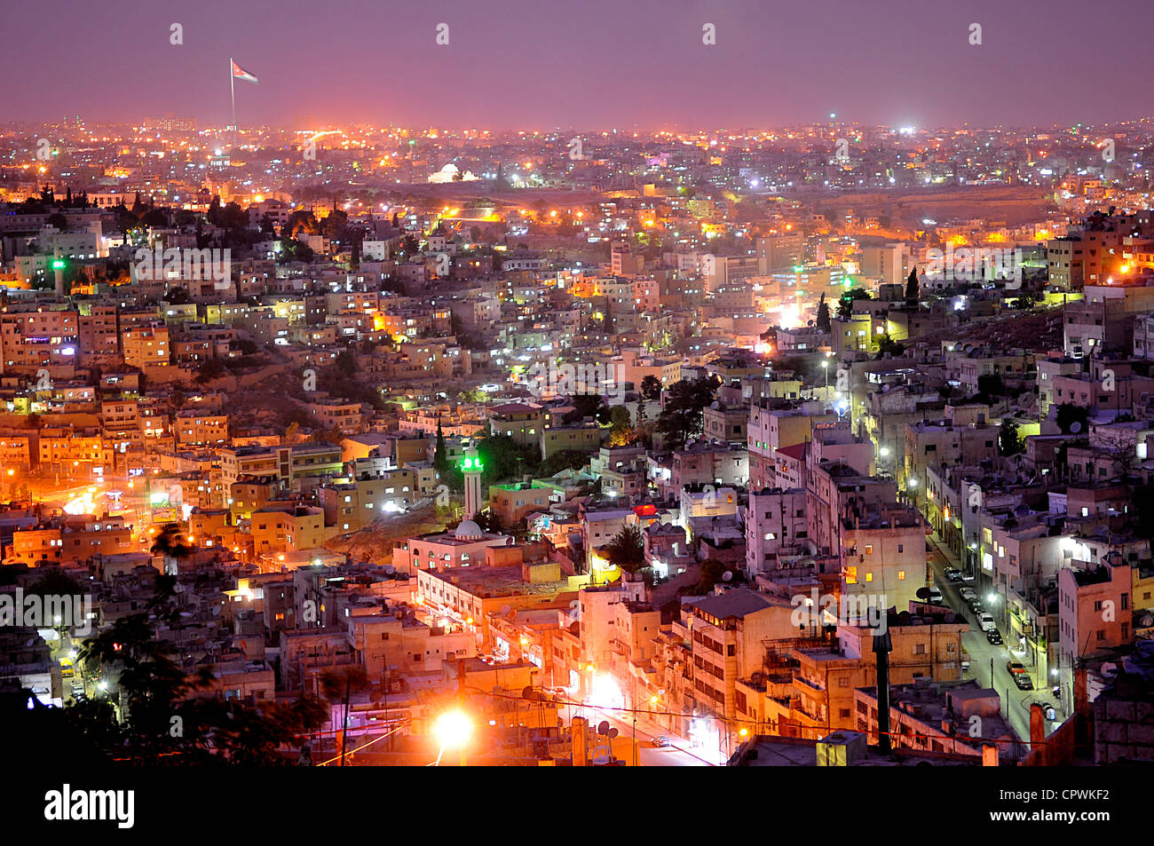 Asia Giordania Amman Vista della città Immagini Stock