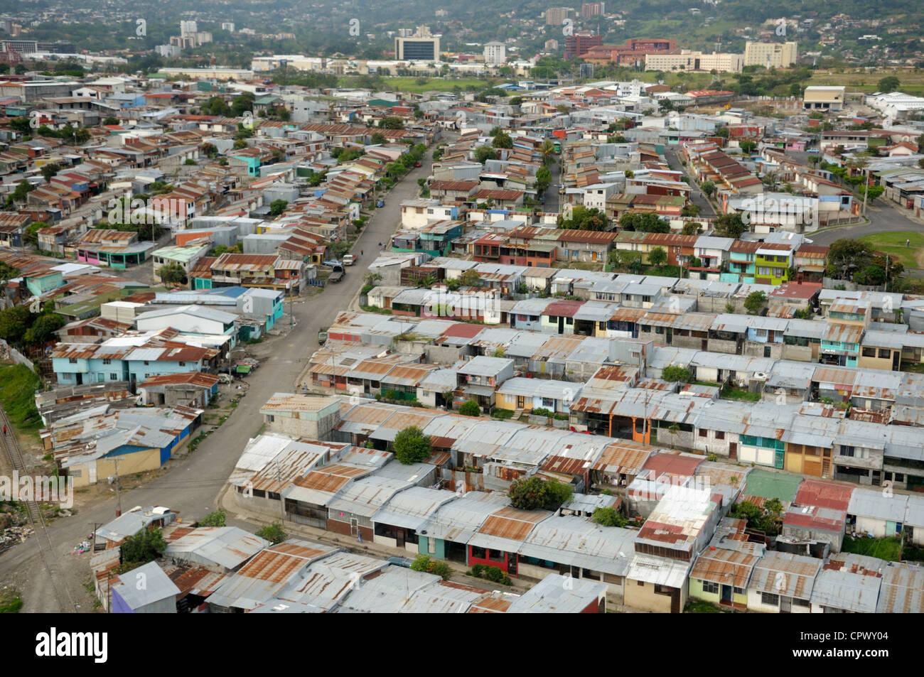 San Jose, Costa Rica, dall'aria Immagini Stock