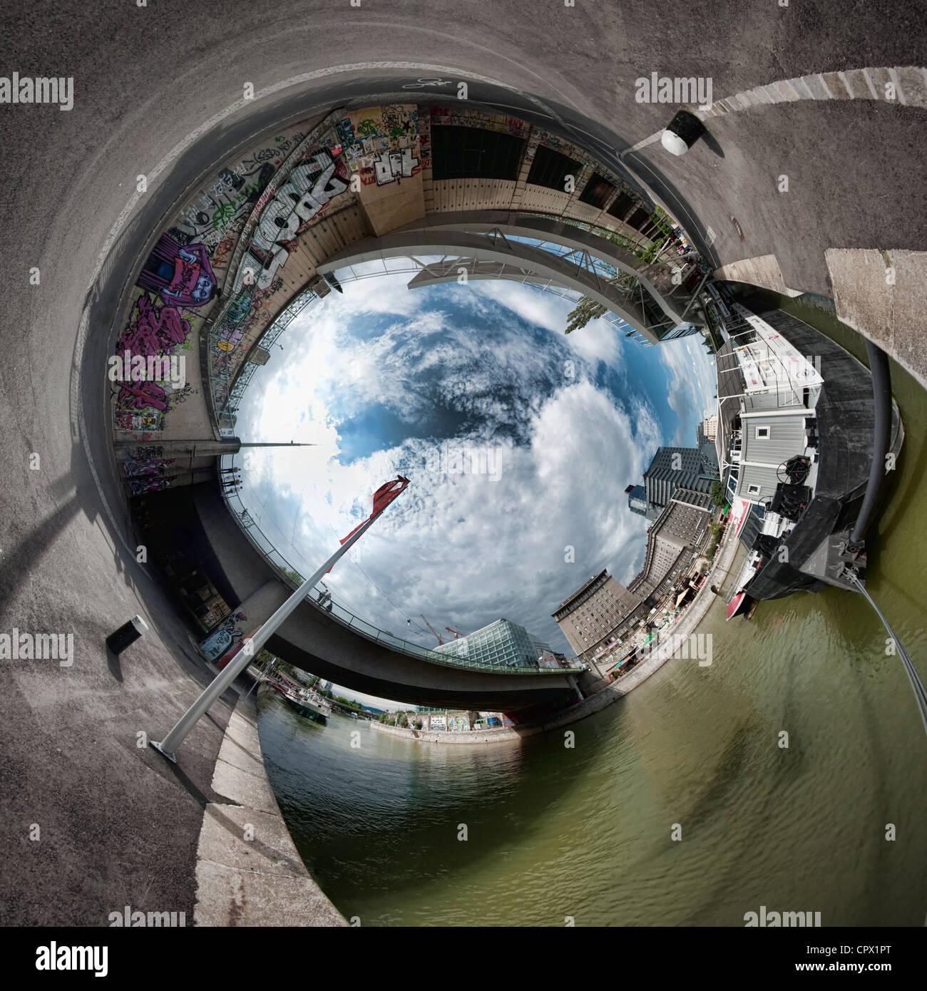 Immagine stereografica di Vienna in Austria Immagini Stock