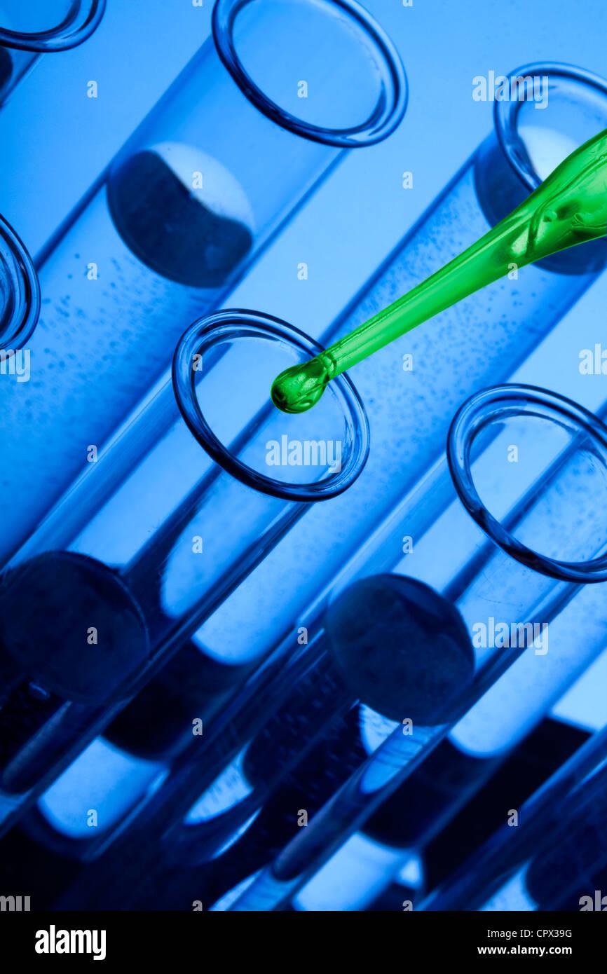 Vetreria di laboratorio Immagini Stock