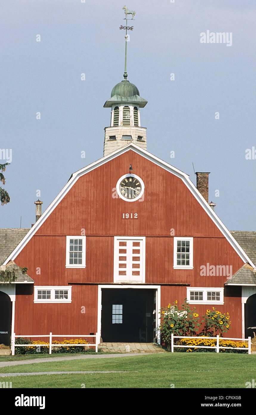 Stati Uniti, Vermont, Lyndonville, caseificio Immagini Stock