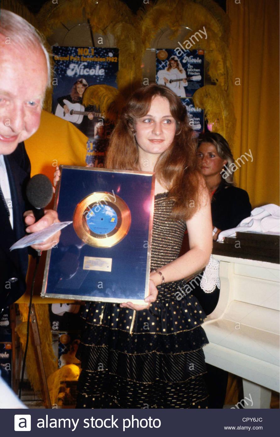 Nicole (Seibert), * 25.10.1964, tedesco Schlager cantante, mezza lunghezza, con golden record, degli anni ottanta, Immagini Stock